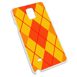 Argyle Hipster Orange - Preppy Snap On Hard Protective Case for Samsung Galaxy Note 4