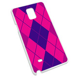 Argyle Hipster Purple Fuchsia - Preppy Snap On Hard Protective Case for Samsung Galaxy Note 4