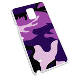 Purple Camouflage Army Soldier Snap On Hard Protective Case for Samsung Galaxy Note 4