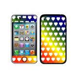 Sweet Heart Pattern Rainbow iPhone 3G/3GS Skin