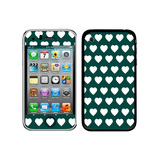 Sweet Heart Pattern Teal iPhone 3G/3GS Skin