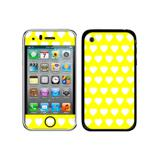 Sweet Heart Pattern Yellow iPhone 3G/3GS Skin