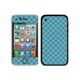 Preppy Houndstooth Blue Gray iPhone 3G/3GS Skin