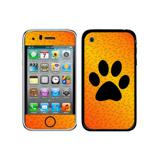 Paw Print of Awesomeness Orange iPhone 3G/3GS Skin