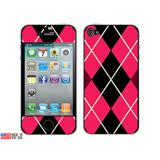 Argyle Hipster Pink iPhone 4 Skin