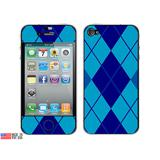 Argyle Hipster Blue iPhone 4 Skin
