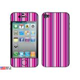 Sweet Candy Stripes Pink iPhone 4 Skin
