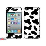 Cow Print Black White iPhone 4 Skin
