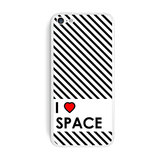 I Love Heart Space iPhone 5C Skin