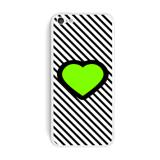 Big Green Love Black Stripes iPhone 5C Skin