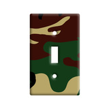 Camouflage Army Soldier Light Switch Plate Cover
