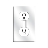 Wall Outlet - Funny Light Switch Plate Cover