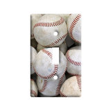 Baseballs Light Switch Plate Cover