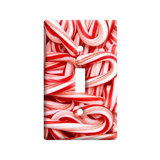 Christmas Candy Canes Light Switch Plate Cover