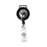 Domestic Shorthair Tabby Cat Retractable Badge Card ID Holder