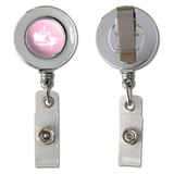 Canada Home Country Chrome Badge ID Card Holder - Solid Light Pink