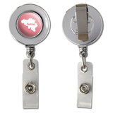 Belgium Home Country Chrome Badge ID Card Holder - Solid Salmon Pink