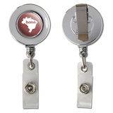 Brazil Home Country Chrome Badge ID Card Holder - Solid Marsala Wine