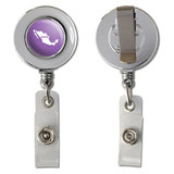 Mexico Home Country Chrome Badge ID Card Holder - Solid Lavender Purple