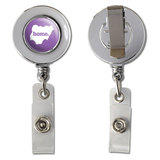 Nigeria Home Country Chrome Badge ID Card Holder - Solid Lavender Purple