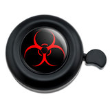 Biohazard Warning Symbol Zombie Radioactive Bicycle Handlebar Bike Bell