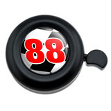 Number 88 Checkered Flag Racing Bicycle Handlebar Bike Bell
