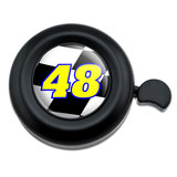 Number 48 Checkered Flag Racing Bicycle Handlebar Bike Bell