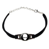Alien Novelty Suede Leather Metal Bracelet