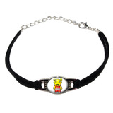 Alien Cartoon Novelty Suede Leather Metal Bracelet