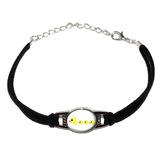Duckies Novelty Suede Leather Metal Bracelet
