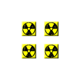 Radiation Radioactive - Set of 3D Stickers