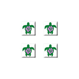 Hibiscus Turtle - Set of 3D Stickers