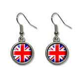 Britain British Flag - Union Jack Dangling Drop Earrings