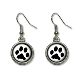 Paw Print - Pet Dog Cat Dangling Drop Earrings