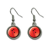 Bowling Ball Sporting Goods Sportsball Dangling Drop Earrings