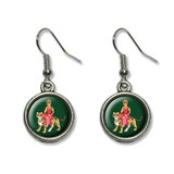 Hindu Deity Durga Dangling Drop Earrings