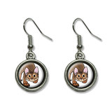 Abyssinian Cat - Pet Dangling Drop Earrings