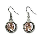 Abyssinian Cat - Pet Dangling Drop Earrings