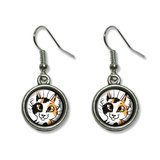 Calico Cat - Pet Dangling Drop Earrings