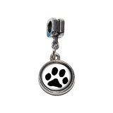 Paw Print - Pet Dog Cat European Style Bracelet Charm