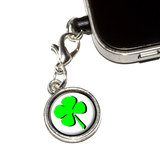 Four Leaf Clover - Irish Mobile Phone Charm