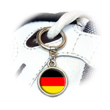 German Germany Flag Round Dangle Shoe Charm