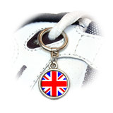 Britain British Flag - Union Jack Round Dangle Shoe Charm