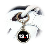 13.1 half marathon running Round Dangle Shoe Charm