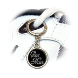 Best Man - Wedding Round Dangle Shoe Charm