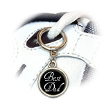 Best Dad - Wedding Round Dangle Shoe Charm