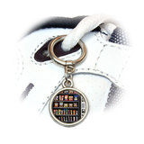 Snacks Chips Candy Vending Machine Round Dangle Shoe Charm
