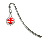 Britain British Flag - Union JackMetal Bookmark with Bottlecap Charm