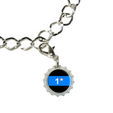Thin Blue Line 1 One Asterisk - Police Policemen Bottlecap Charm