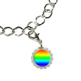 Rainbow - Gay Lesbian Bottlecap Charm
